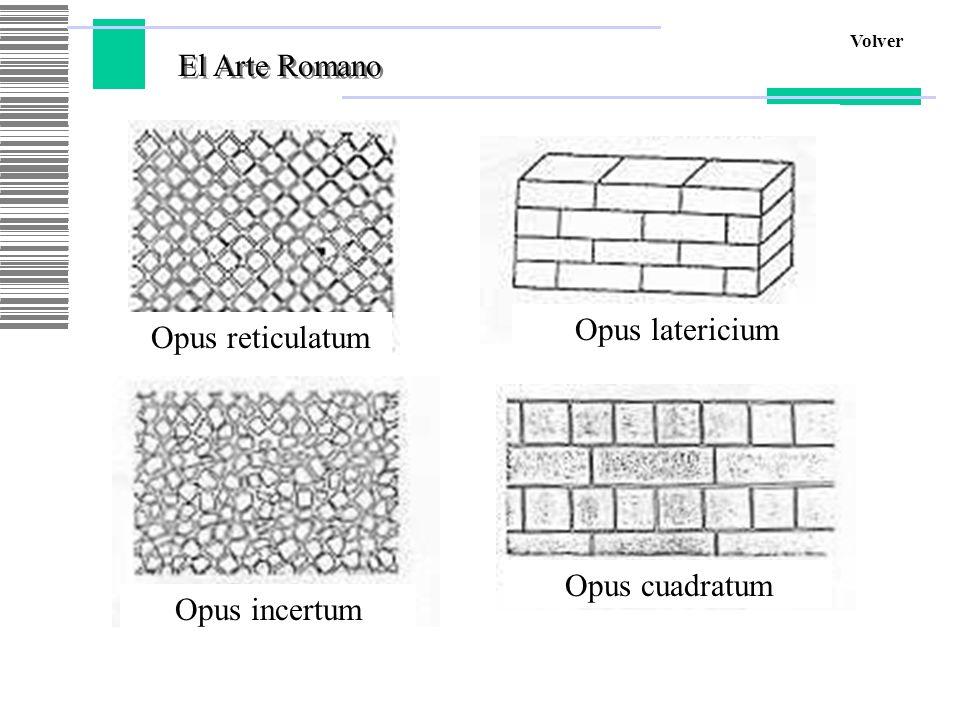 El Arte Romano Opus latericium Opus reticulatum Opus cuadratum
