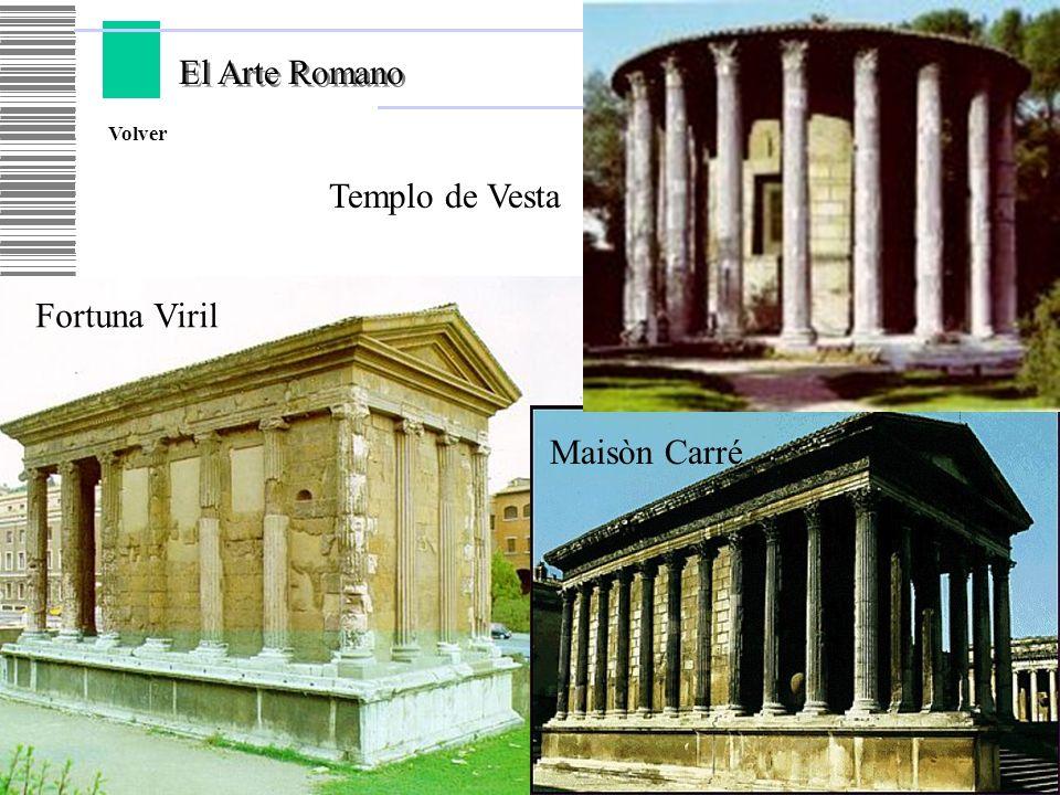 El Arte Romano Volver Templo de Vesta Fortuna Viril Maisòn Carré