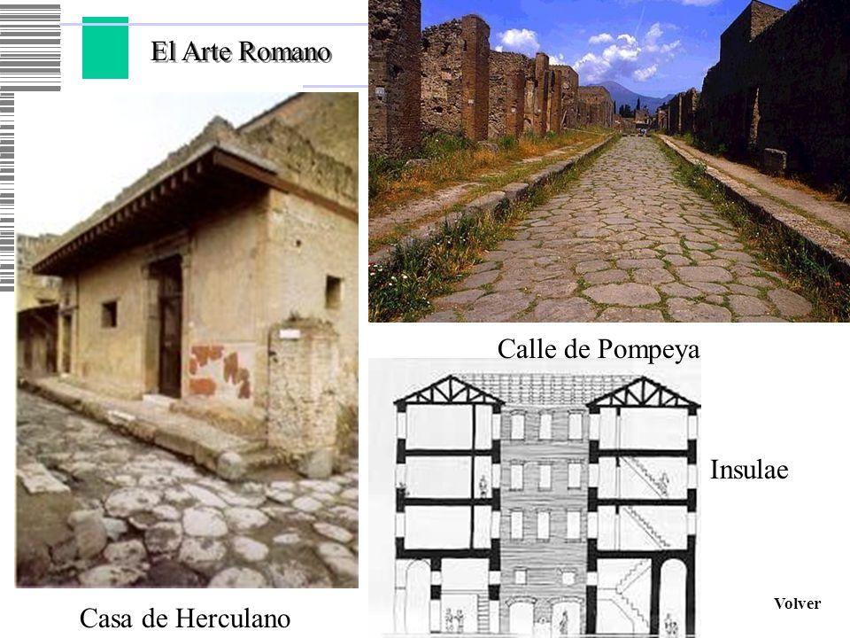 El Arte Romano Calle de Pompeya Insulae Volver Casa de Herculano