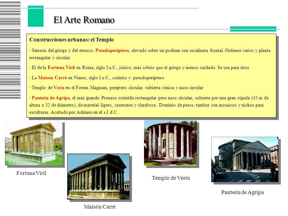 El Arte Romano Construcciones urbanas: el Templo Fortuna Viril