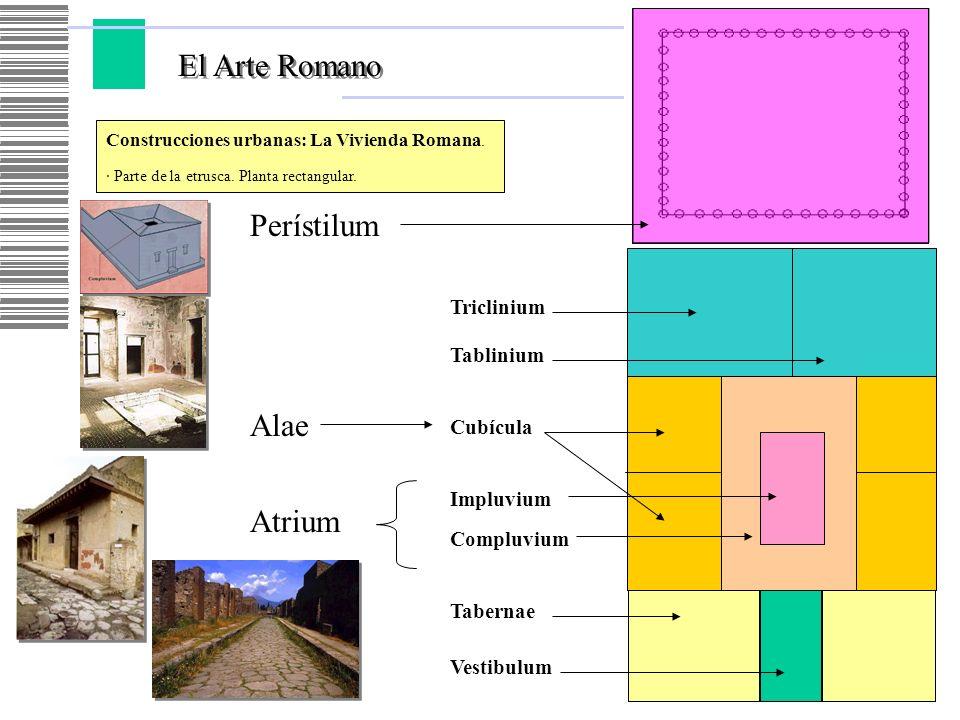 El Arte Romano Perístilum Alae Atrium Triclinium Tablinium Cubícula