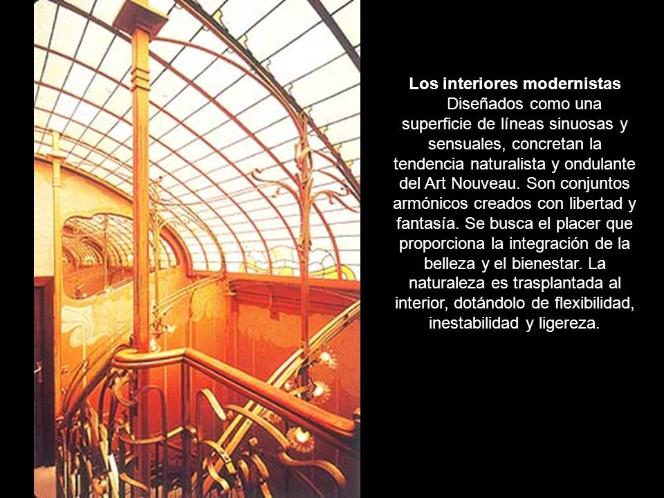 Los interiores modernistas