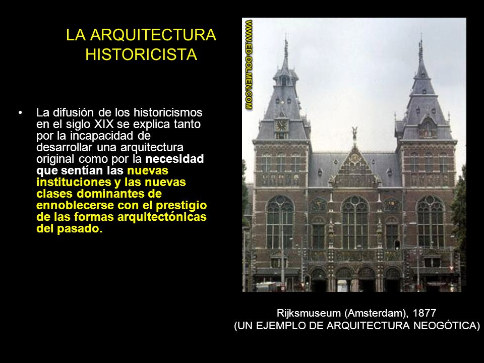 Y tecnolog as constructivas ppt video online descargar for Arquitectura historicista