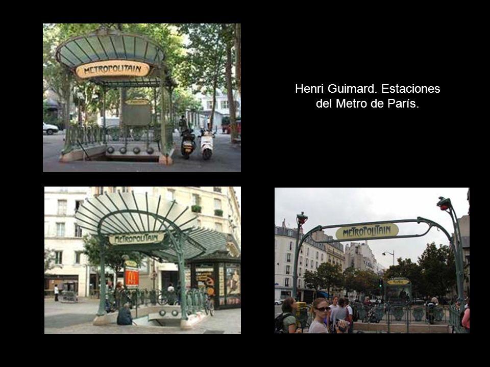 Henri Guimard. Estaciones del Metro de París.