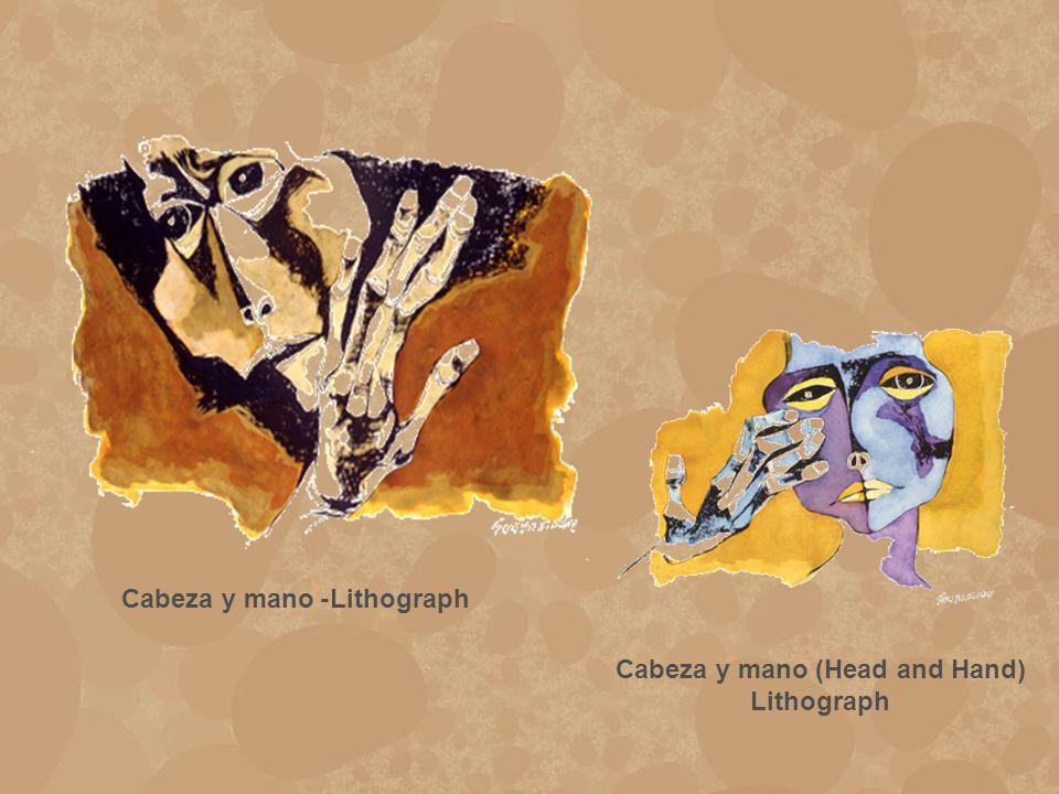 Cabeza y mano -Lithograph Cabeza y mano (Head and Hand) Lithograph