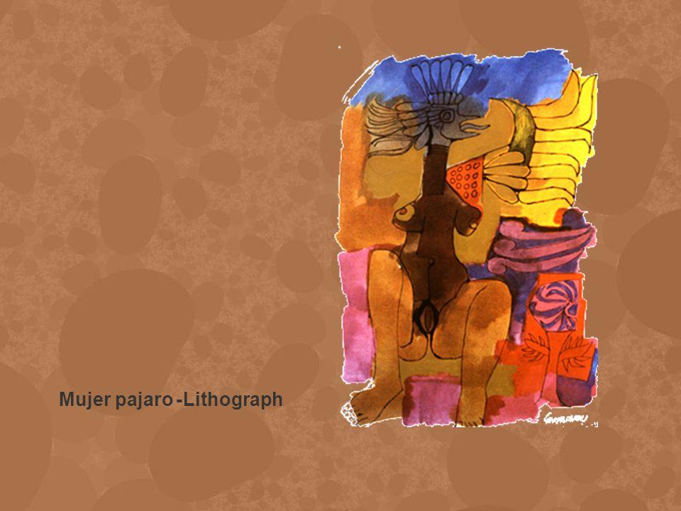 Mujer pajaro -Lithograph