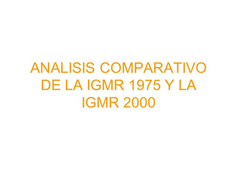 ANALISIS COMPARATIVO DE LA IGMR 1975 Y LA IGMR 2000