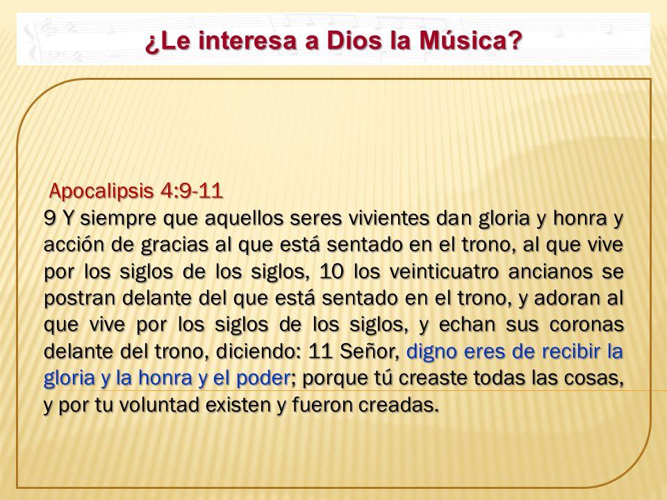 ¿Le interesa a Dios la Música