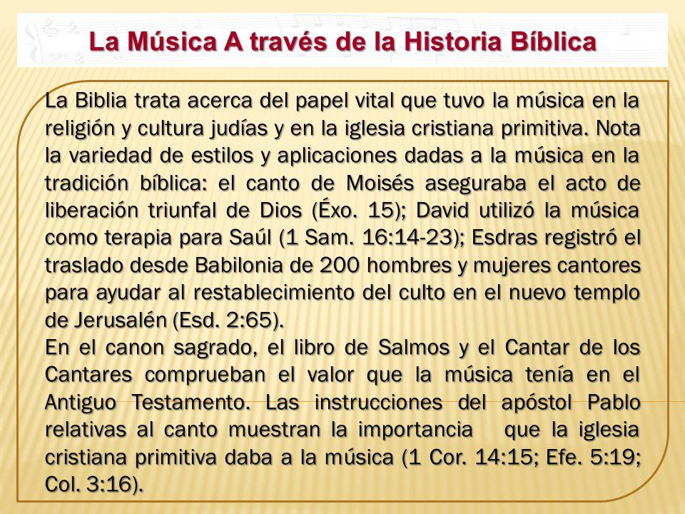 La Música A través de la Historia Bíblica