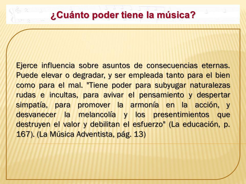 ¿Cuánto poder tiene la música