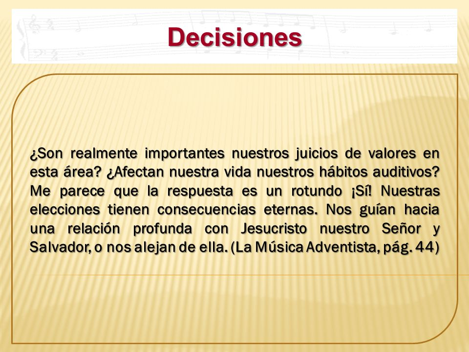 Decisiones