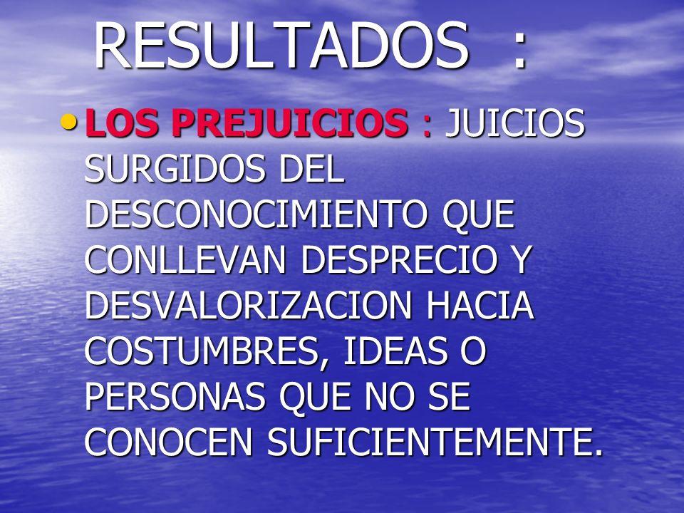 RESULTADOS :