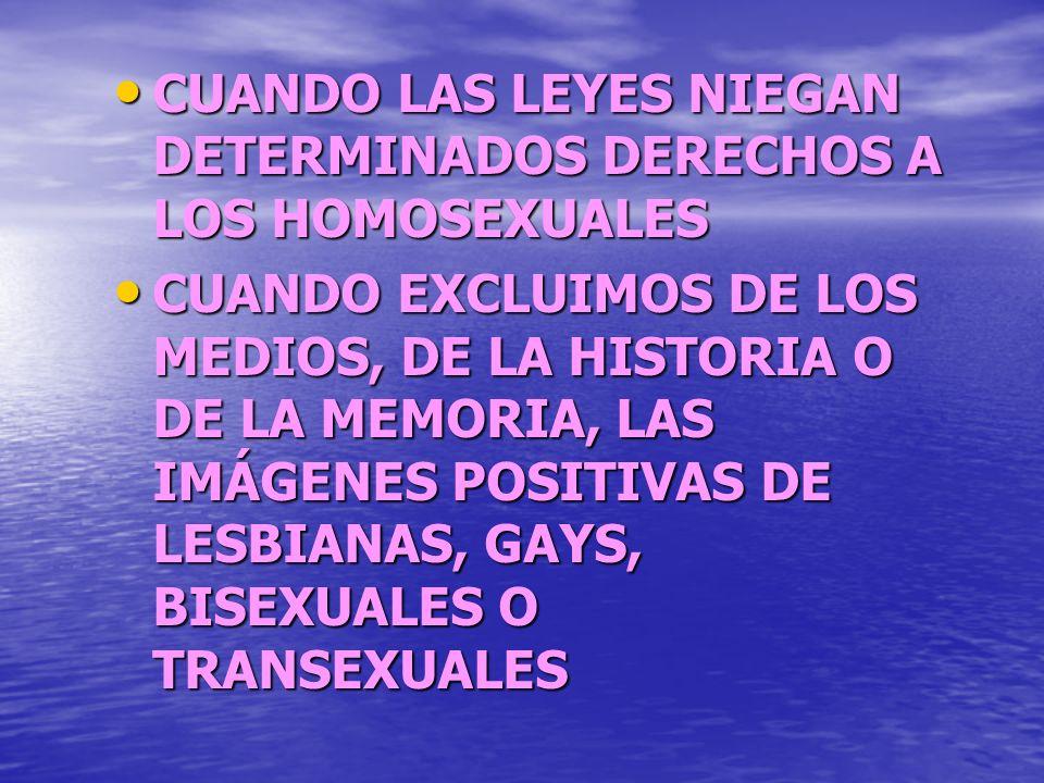 Las leyes sobre homosexualidad en el mundo:I