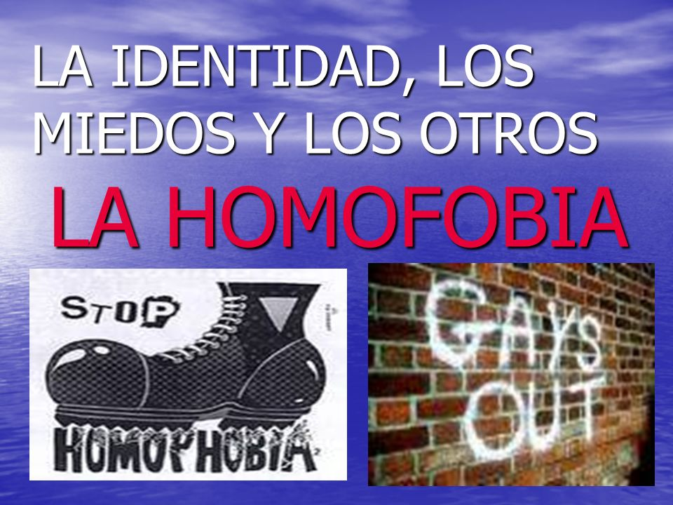 LA IDENTIDAD, LOS MIEDOS Y LOS OTROS LA HOMOFOBIA