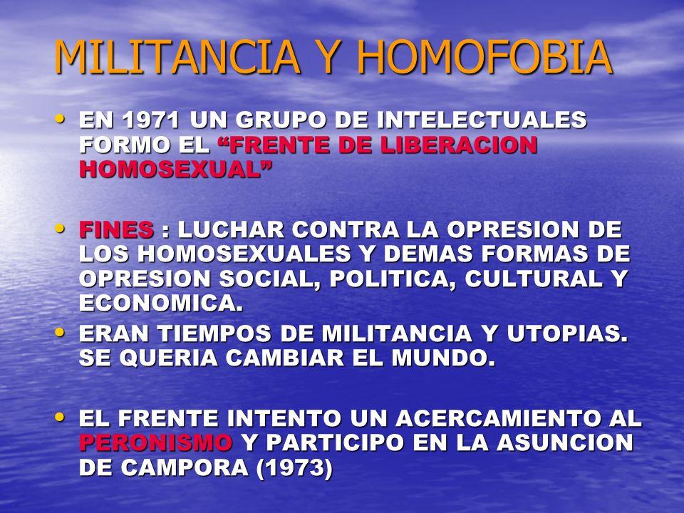 MILITANCIA Y HOMOFOBIA
