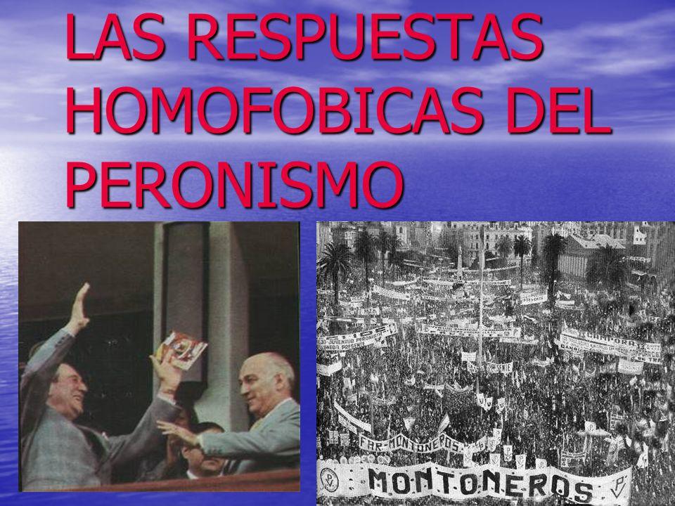 LAS RESPUESTAS HOMOFOBICAS DEL PERONISMO