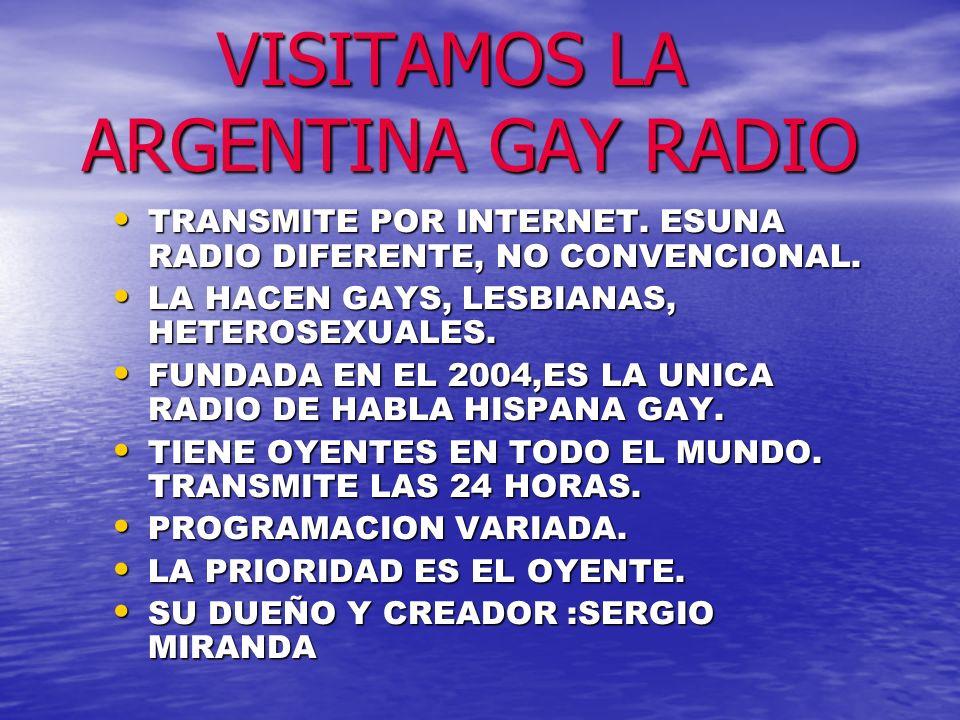VISITAMOS LA ARGENTINA GAY RADIO