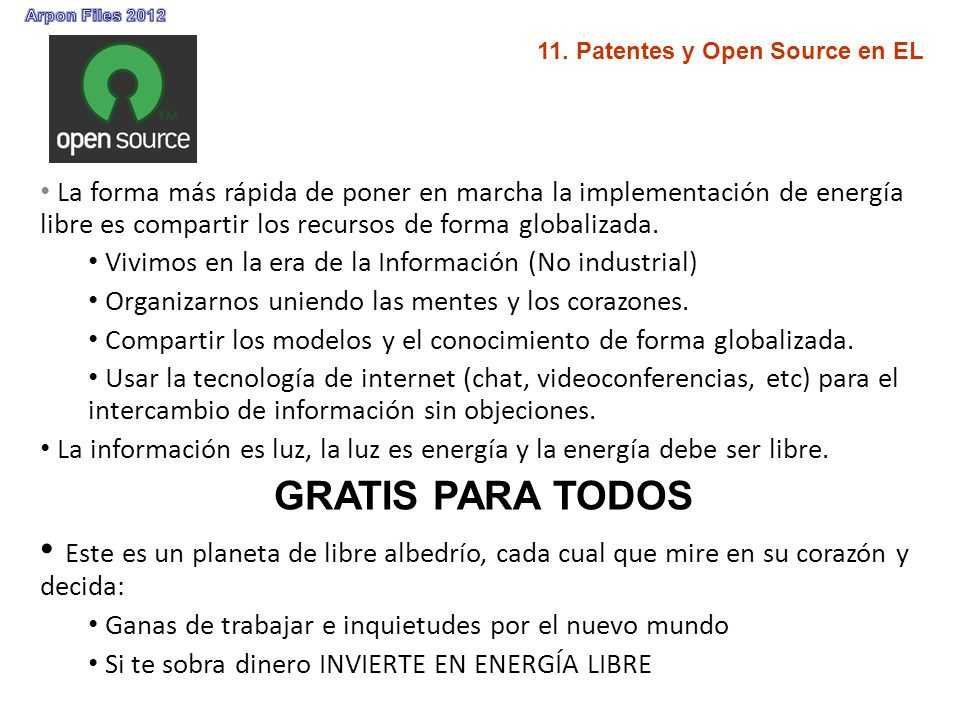 11. Patentes y Open Source en EL