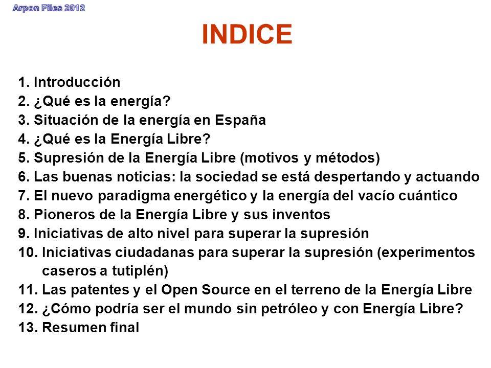 INDICE 1. Introducción 2. ¿Qué es la energía
