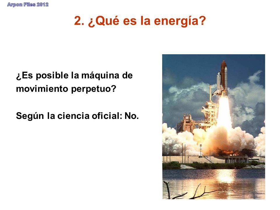 2. ¿Qué es la energía ¿Es posible la máquina de movimiento perpetuo