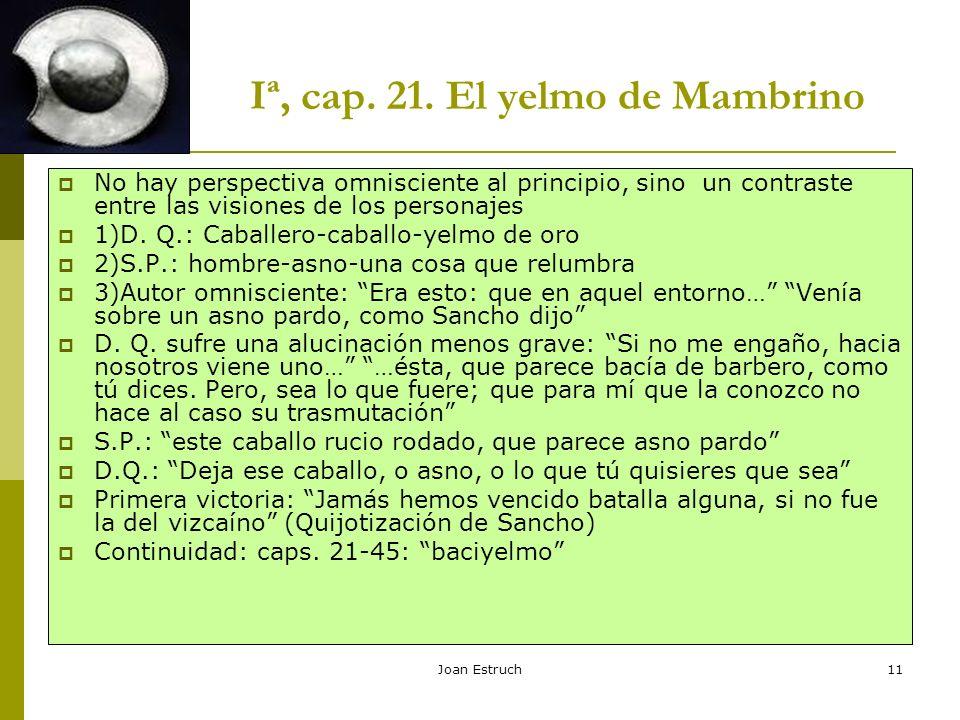 Iª, cap. 21. El yelmo de Mambrino