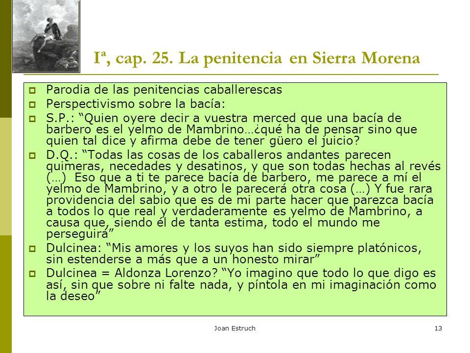 Iª, cap. 25. La penitencia en Sierra Morena