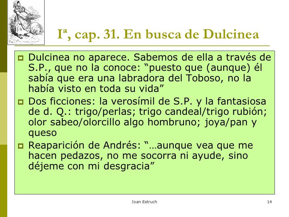 Iª, cap. 31. En busca de Dulcinea