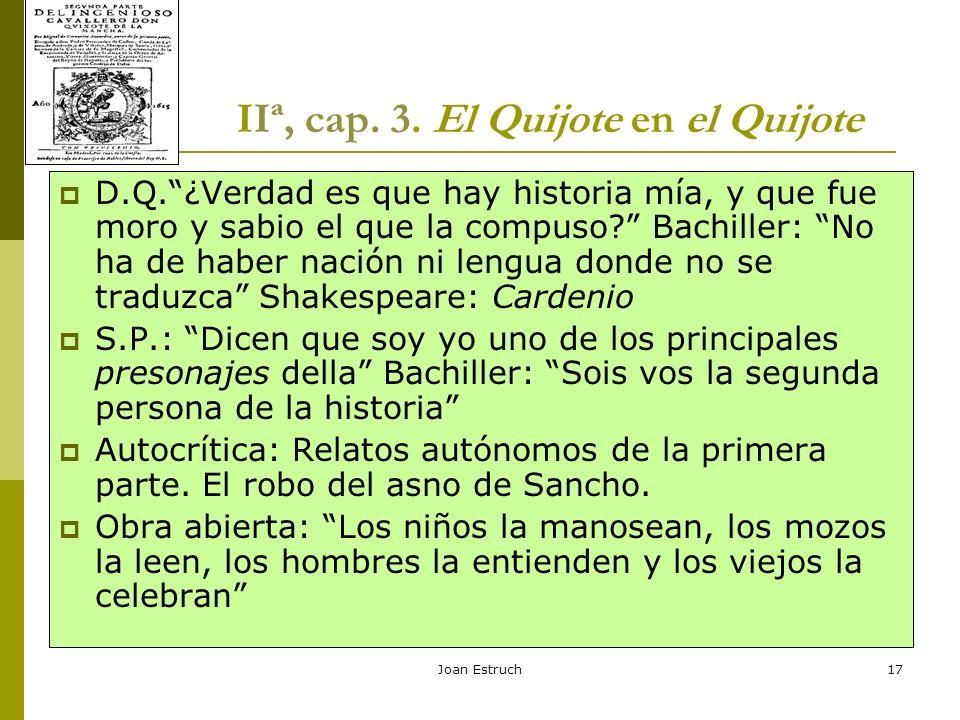 IIª, cap. 3. El Quijote en el Quijote