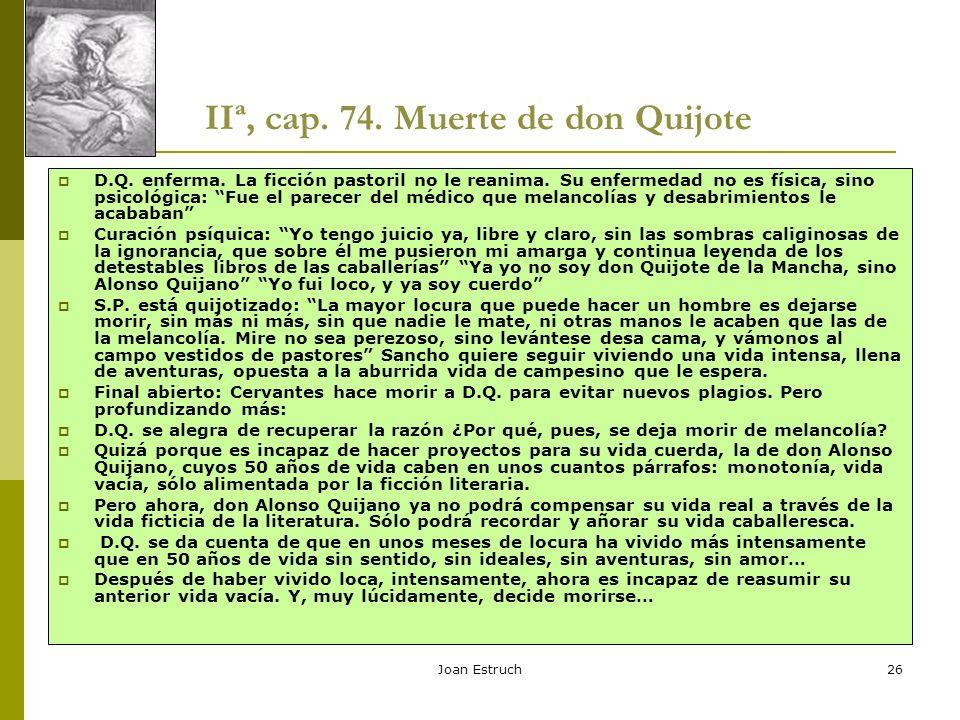IIª, cap. 74. Muerte de don Quijote