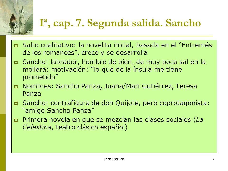 Iª, cap. 7. Segunda salida. Sancho