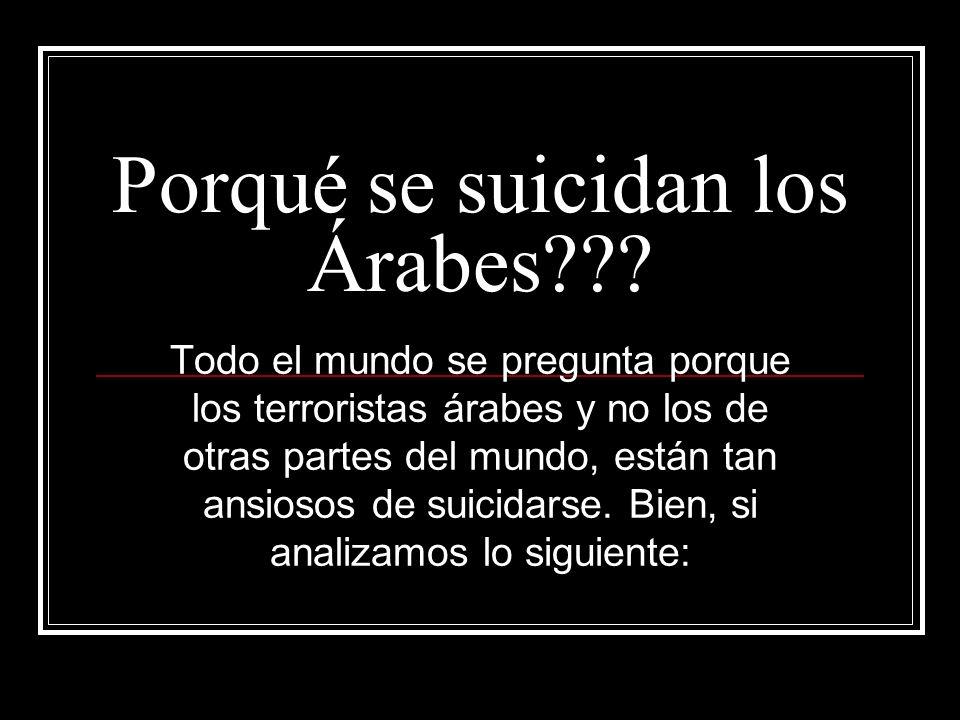 Porqué se suicidan los Árabes