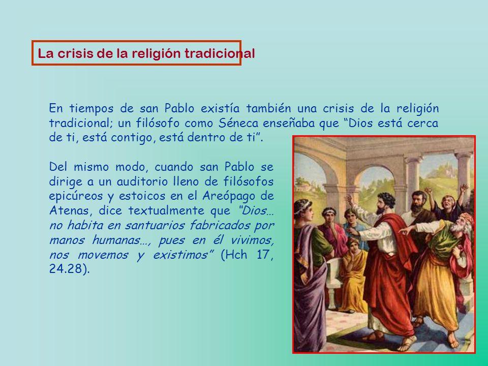 La crisis de la religión tradicional