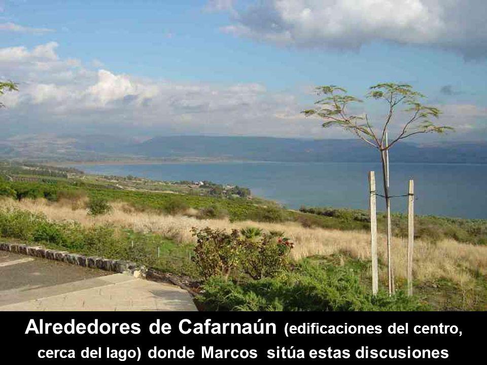 Alrededores de Cafarnaún (edificaciones del centro, cerca del lago) donde Marcos sitúa estas discusiones
