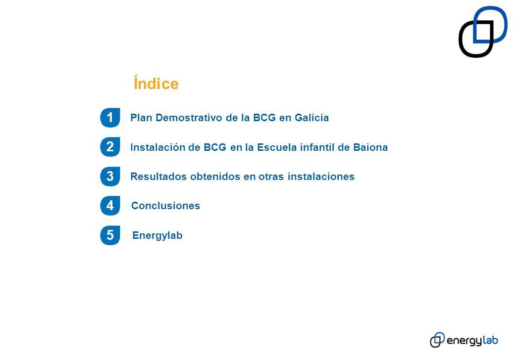 Índice 1 2 3 4 5 Plan Demostrativo de la BCG en Galicia
