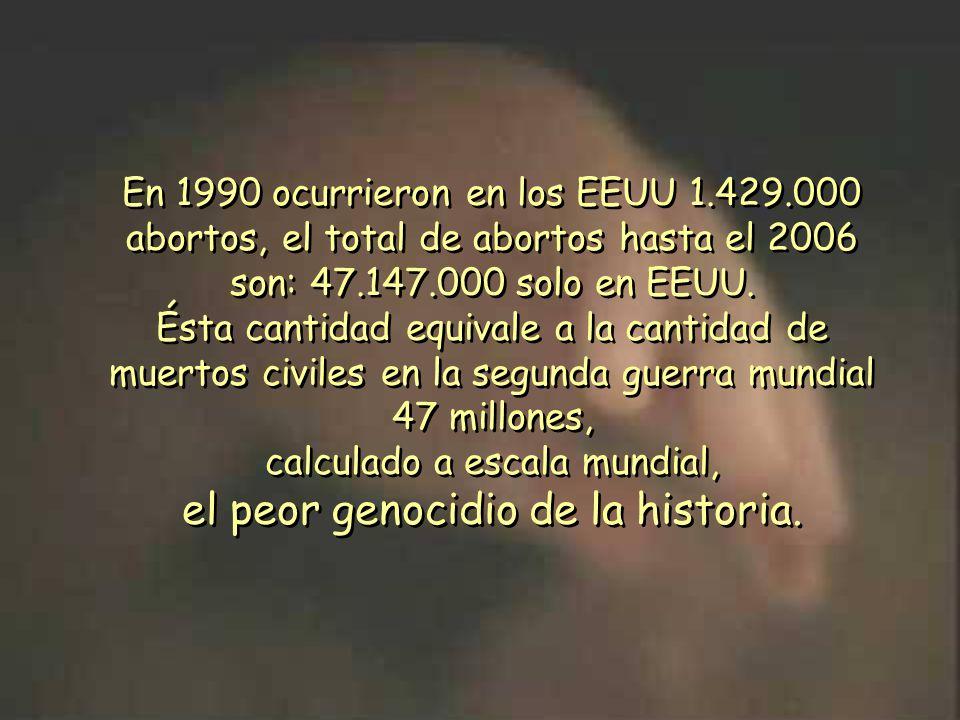 el peor genocidio de la historia.