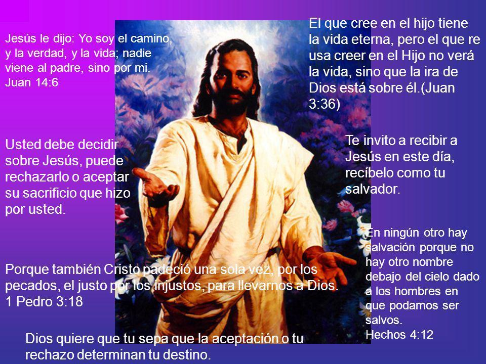 Te invito a recibir a Jesús en este día, recíbelo como tu salvador.