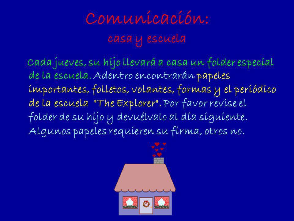 Comunicación: casa y escuela