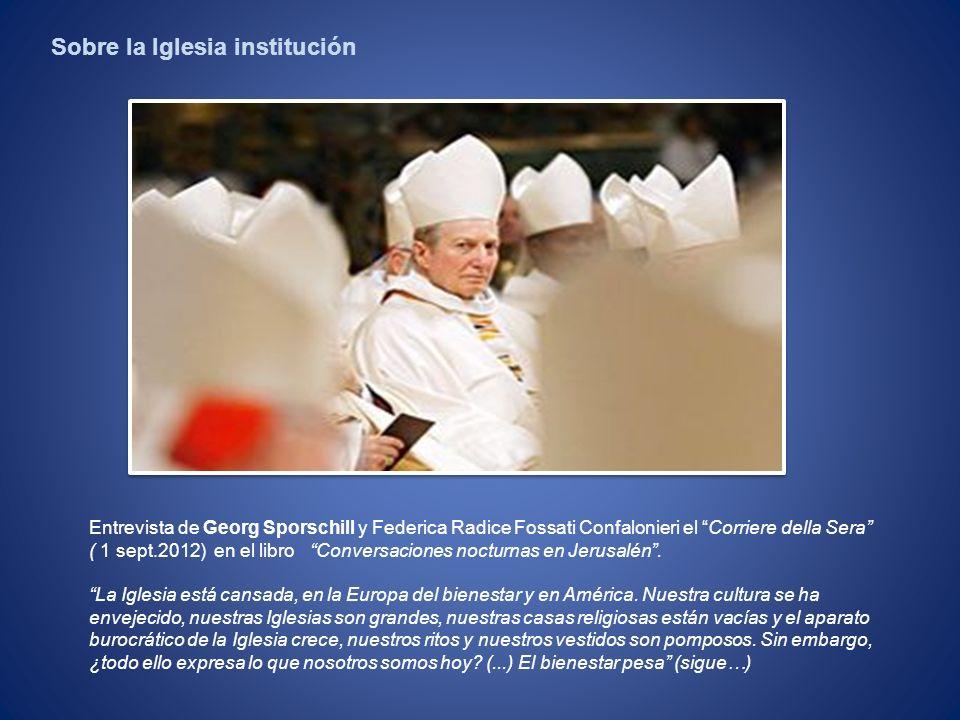Sobre la Iglesia institución