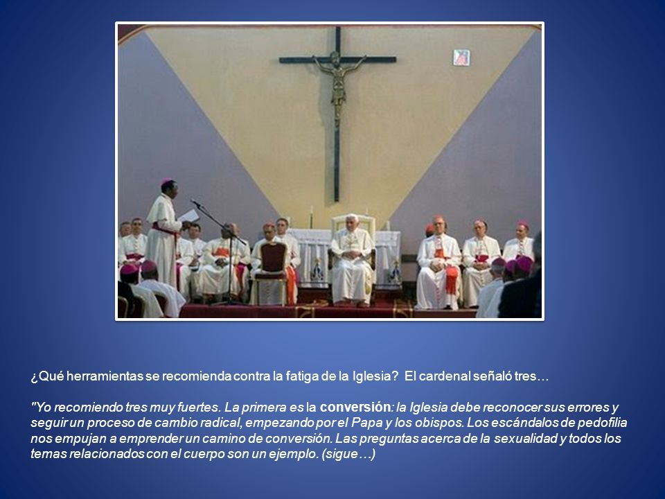 ¿Qué herramientas se recomienda contra la fatiga de la Iglesia