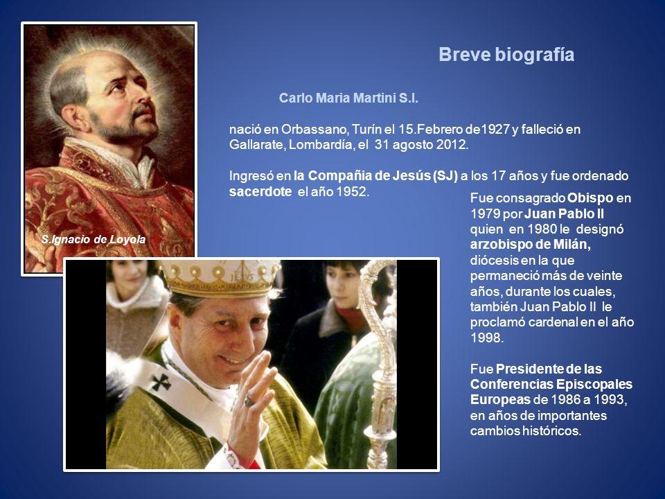 Breve biografía Carlo Maria Martini S.I.