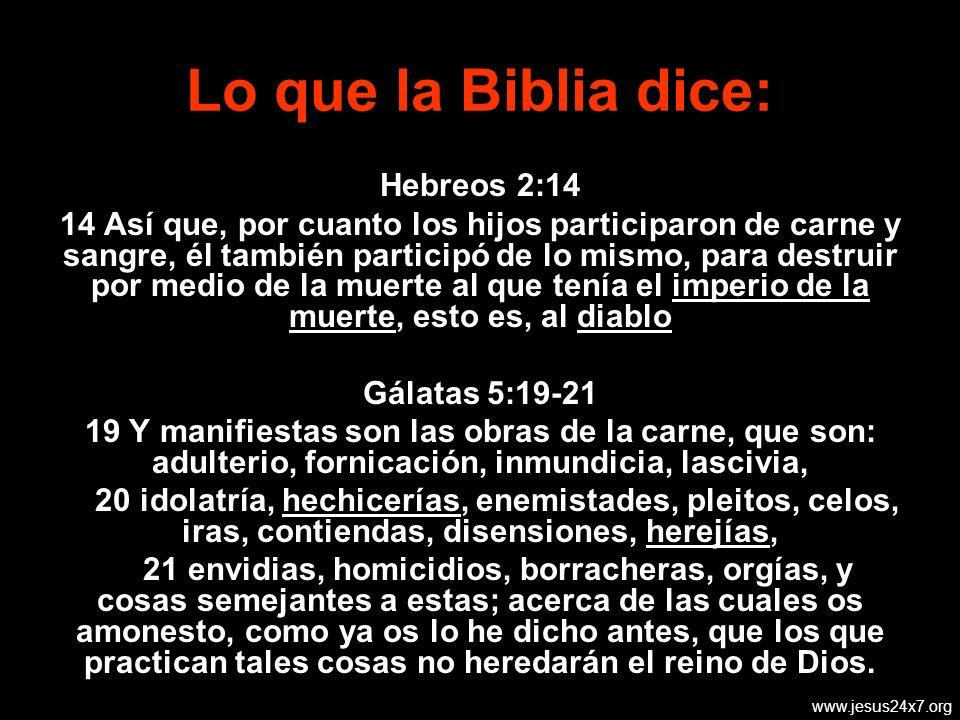 Lo que la Biblia dice: Hebreos 2:14