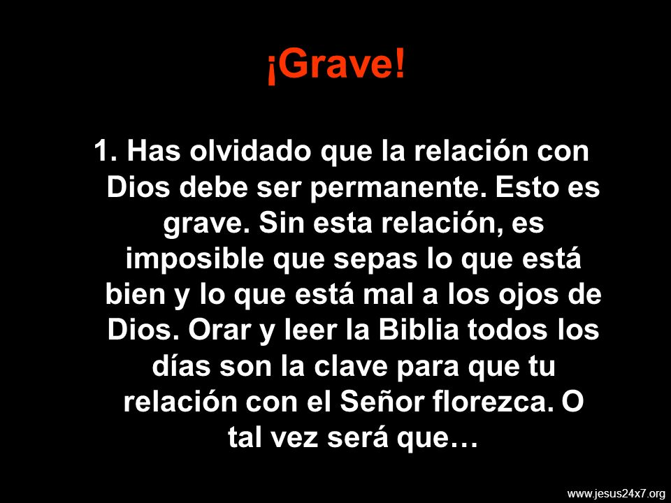 ¡Grave!