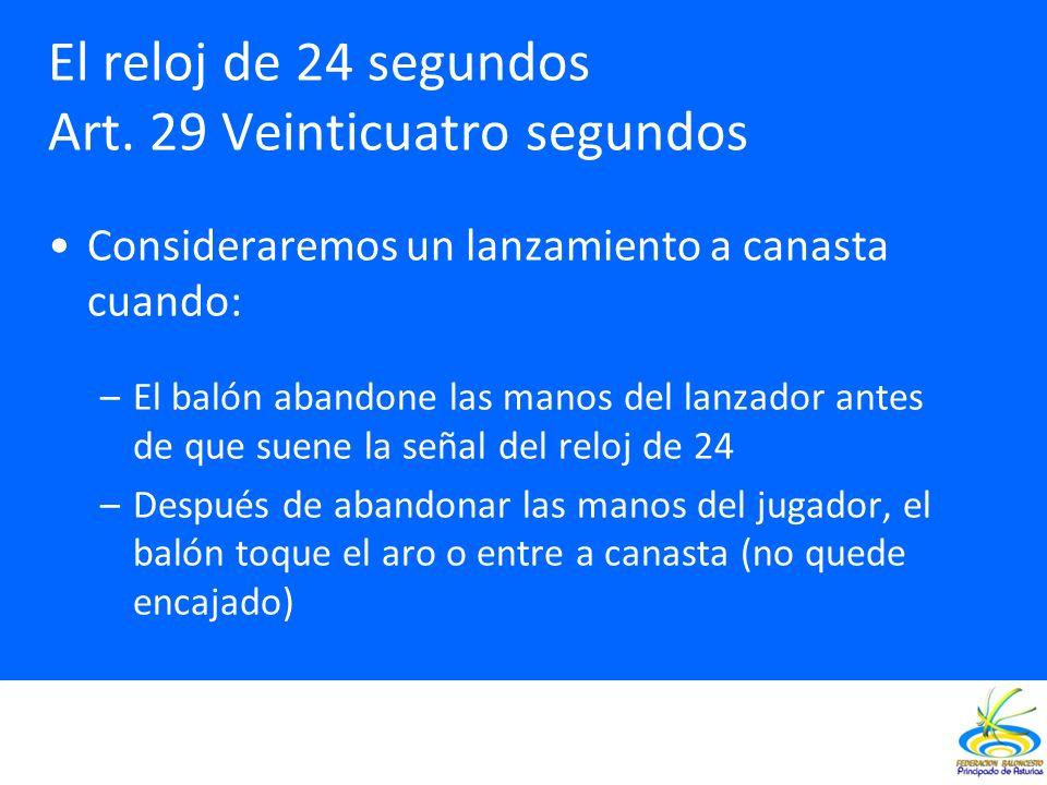 El reloj de 24 segundos Art. 29 Veinticuatro segundos