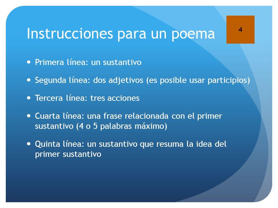 Instrucciones para un poema