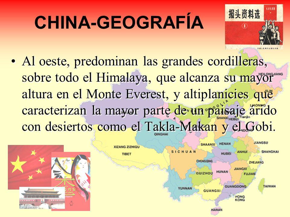 CHINA-GEOGRAFÍA