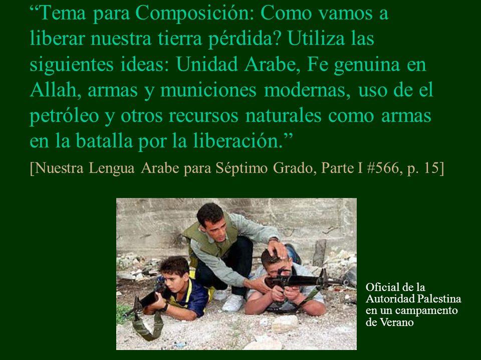 Tema para Composición: Como vamos a liberar nuestra tierra pérdida