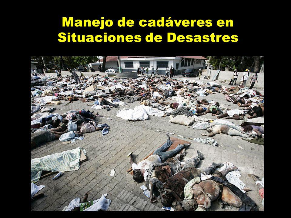 Manejo de cadáveres en Situaciones de Desastres