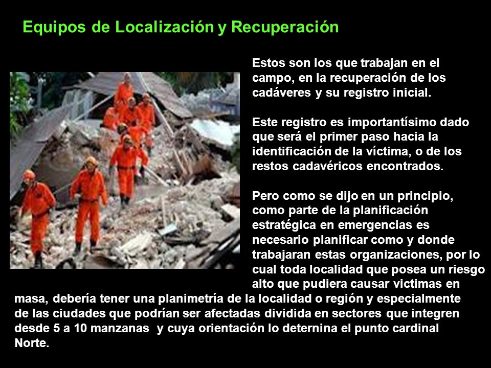 Equipos de Localización y Recuperación