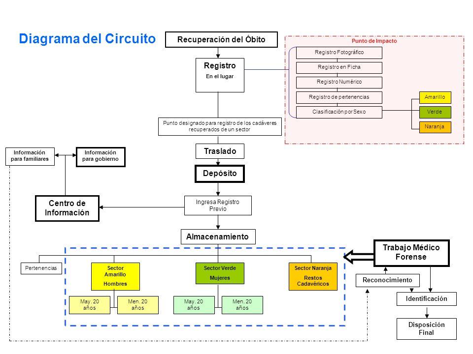 Diagrama del Circuito Recuperación del Óbito Registro Traslado