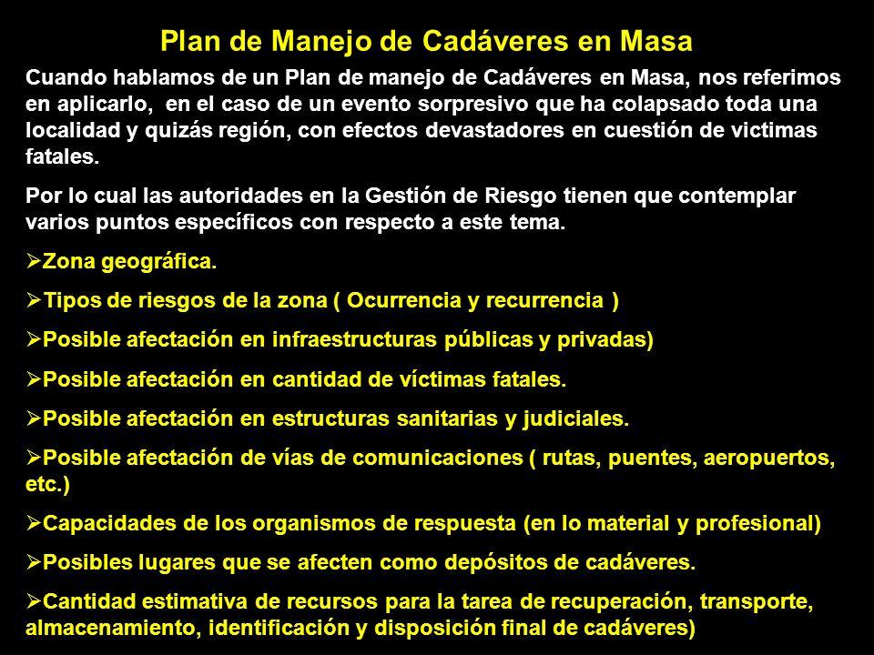 Plan de Manejo de Cadáveres en Masa